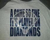 Bling and Glitter Baseball SlMom Shirt