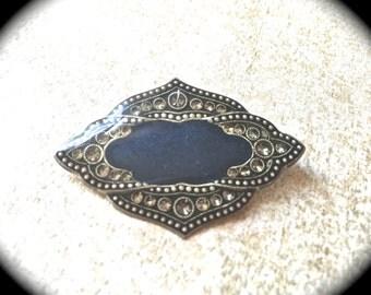 Catherine Popesco Brooch- Vintage Art Deco Enamel Resin brooch- Made in France Brooch