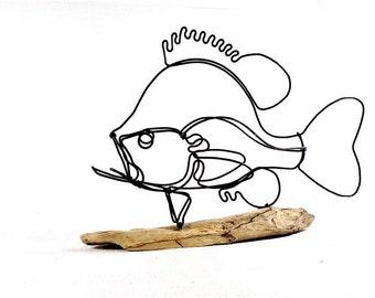 Sunfish Wire Sculpture, Fish Wire Art, Fish Art, 267123879