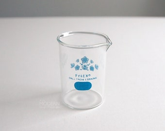 Pyrex Butterfly Gold Blue Promotional Lab Glass Beaker