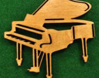 Wood Piano Ornament