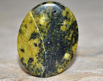 Tree agate drilled pendant, 55x65mm - #585