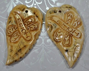 Carved heart pendants, 62mm, #777