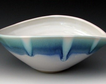 CERAMIC BOWL #2 - Stoneware Bowl - Large Cereal Bowl - Large Soup Bowl - Small Serving Bowl - Blue Bowl - Studio Pottery
