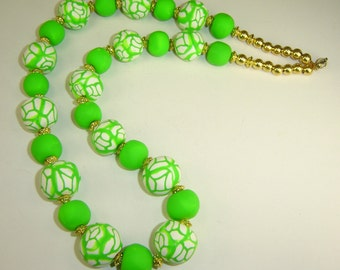 I Love Summer Colors Necklace. Lime Green