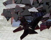 Mixed Purple Stained Glass Scraps Mosaic Craft Supplies 16 oz