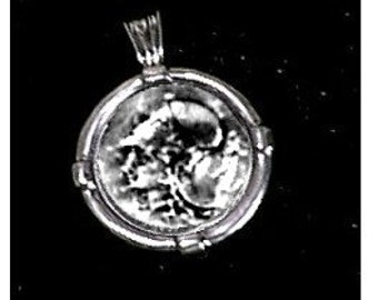 Goddess Athena Pendant  Sterling Silver Free Domestic Shipping