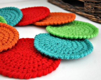 Fiesta Coasters Modern Mug Rugs Home Decor Rustic Design Crocheted Accessories Custom Colors