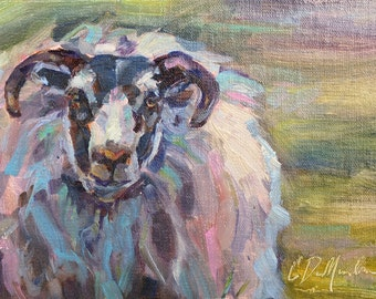 Sheep, Sheep Art, Icelandic Sheep, Animal Art, Wildlife Art, Wool, European Animal, Ewe art, Wall Decor, Zoo Animal, Mountains of Europe,