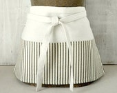 Black and Natural Ticking Apron