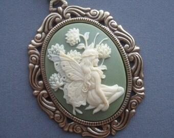 Fairy Necklace - Fairy Jewelry - Cameo Necklace - Fairies - Faerie Jewelry - Fairy Tale Jewelry - Cameo Pendant - Fairy Tale Necklace