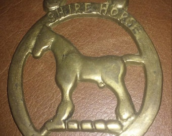 Vintage English Shire Horse Horse Brass