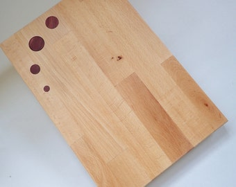 dotted cutting board beech wood