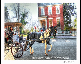 Church Hill Christmas Tour - Richmond VA - Court End Christmas - Horse Carriage - Art Photography Prints by Dave Lynch