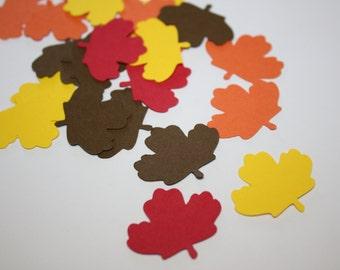 Fall Maple Leaf Die Cut Confetti Table Decor 200 pieces