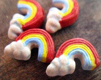 20 Tiny Rainbow Beads