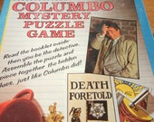 Vintage Columbo Mystery Puzzle Game from 1989 television detective Peter Falk 550 piece interlocking size 18 x 24 never played