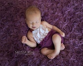 Purple Lace Front Mohair Knit Romper Newborn Photography Prop