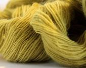 Canary Feathers Hand Spun Wool Sport Yarn Natural Dye 300 Yards
