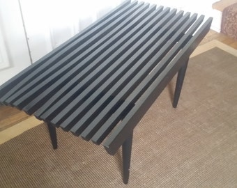 Slat Bench Painted/Coffee Table