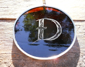 Stained Glass Alphabet Letter D