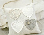 Heart Pillow-Hanging Heart-Heart Mini Pillow-Valentines Day