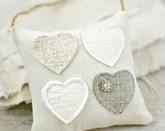 Heart Pillow-Hanging Heart-Heart Mini Pillow-Valentines Day