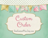 Custom Adventure Camping Nursery Banner for Hannah, Navy, Gray, Green, Orange, Teepee and Canoes, Feathers and Arrows