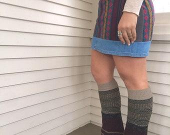 Eco Leg Warmers,sweater leg warmers, leg warmers, hippie leg warmers, patchwork leg warmers,earthy leg warmers,Zasra