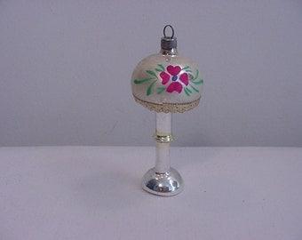 Vintage Mercury Glass Table Lamp Christmas Tree Ornament  15 - 17