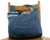 CROSSBODY HOBO BAG - Hobo Bag - Vegan Purse - Crossbody Bag - Boho Bag - Cross Shoulder Bag - Bohemian Bag - Teal Bag - Leopard Print Bag