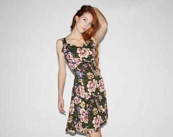 90s Vintage Floral Soft Grunge Dress  - Vintage 1990s Dress  - 90s Grunge Dresses   - WD0466