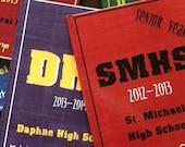 Hardcover Memory Book - High School Senior Year  (Class of 2017) Graduation Gift, Keepsake, Personalized Photo Album, Graduate, Smash Book