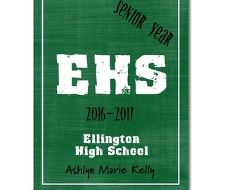 Hardcover Memory Book - High School Senior Year (Class of 2017) Graduation, Scrapbook, Photo book, Big Brown Chair, Smash book, Graduate