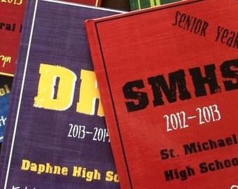 Hardcover Memory Book - High School Senior Year  (Class of 2018) Graduation Gift, Keepsake, Personalized Photo Album, Graduate, Smash Book