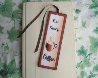 Bookmark for Coffee Lovers Coffee Bookmark Laminated Bookmark