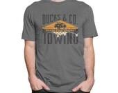 Ducks & Co Towing Distressed Ducks Pull Trucks - Tennessee vs Florida Humorous Tee - AH