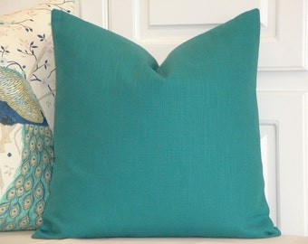 DOUBLE SIDED -  Decorative Pillow Cover - TEAL - Accent Pillow - Sofa Pillow - Solid Color Pillow - Chair Pillow - Bed Pillow