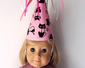 Siamese Cat-18 Inch Doll Accessory-Birthday Hat-Matching Party Hats