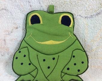 Retro 70s Frog Pot Holder or Hot Pad