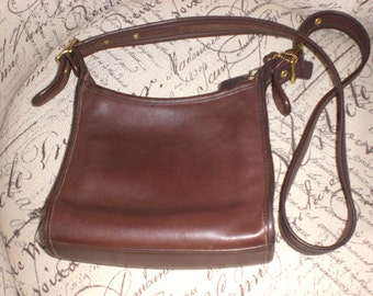 Coach bag, Brown, 9997, free shipping,Crossbody bag, small purse, festival bag,glove tanned cowhide, full grain leather,