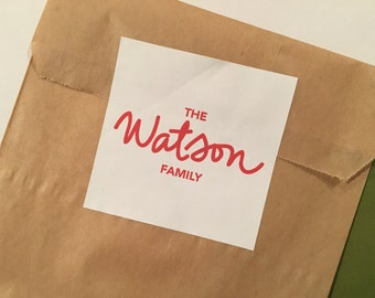 Family Gift Sticker, Custom Personalized Family Sticker, Large Handwritten Family Sticker, Custom Family Sticker, Personalized Gift Stickers