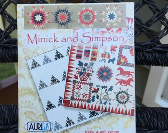 "SALE - AURIFIL THREAD Set: ""Minick and Simpson"" Collection -  50 wt. cotton - 10 spools"