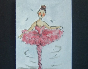 cartoon art painting aceo ref 302