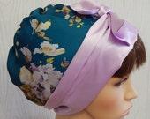 Satin womens head scarf cap, silky sleeping head wear, Jewish tichel head covering, apron style head wrap, satin hair scarf bonnet