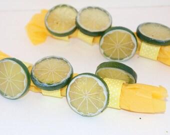 Lime Napkin Rings Set of 8