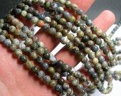 Dendritic Opal - 6 mm round beads - full strand - 66 beads - RFG411