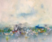 Large Abstract cityscape/Seascape - City Lights 40 x 60