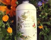Organic Body Lotion MEADOW BALM herbal extracts, botanical oils, floral distillates, essential oil aromatics, vegan lotion, 82% organic