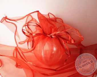 12 RED Organza Wraps - Party favors, jewelry, gifts and much, much more